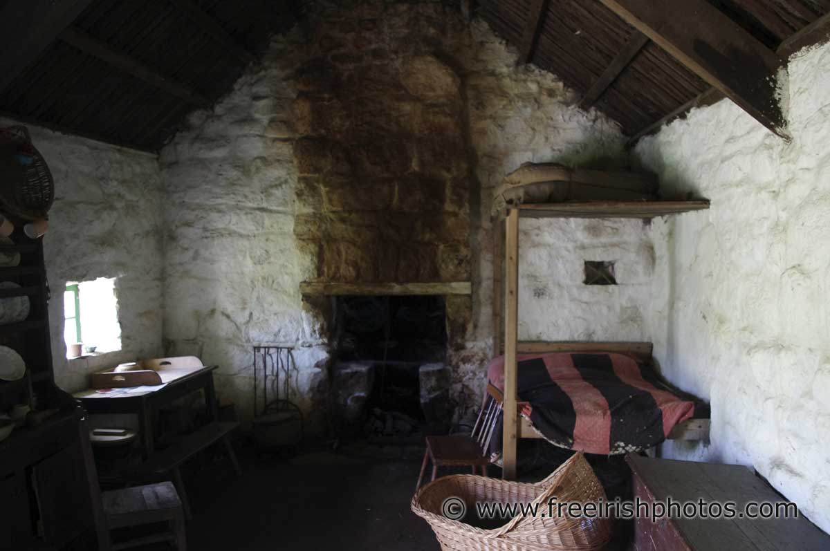 Inside An Old Thatched Irish Cottage