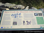 Information board at Slieve Croob