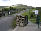 Gate to start of the transmitter road to the top of Slieve Croob