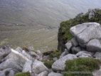 View from top of the Devil's Coachroad in the Mourne Mountains