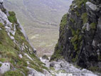 Looking down the Devil's Coachroad in the Mourne Mountains